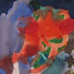 #G12/13, Aquarell, 2013, 25 x 18 cm angenommen ich schreibe hier einen längeren Titel