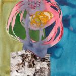 Zeitrutschen II # C04/14, Aquarell-Fotocollage, 2014, 20 x 20 cm
